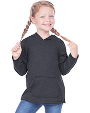 Toddlers French Terry Raw Edge Long Sleeve Hoodie w. Pouch at GotApparel