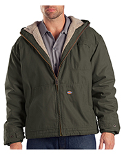 Dickies TJ350T Men Sanded Duck Sherpa Lined Hooded Jacket at GotApparel