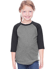 Toddlers Jersey Contrast Raglan 3/4 Sleeve at GotApparel