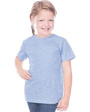 Toddlers Slub Crew Neck Short Sleeve at GotApparel