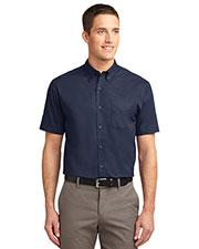 Port Authority TLS508 Men Tall Short-Sleeve Easy Care Shirt at GotApparel