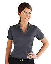 Tri-Mountain 401 Women Saratoga Short-Sleeve Knit Polo Shirt at GotApparel
