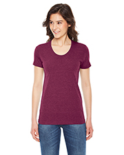 Custom Embroidered American Apparel TR301W Ladies 3.7 oz Triblend Short-Sleeve Track T-Shirt at GotApparel