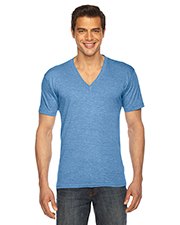 Custom Embroidered American Apparel TR461W Men 3.7 oz Triblend Short-Sleeve V-Neck at GotApparel