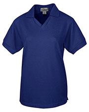 Tri-Mountain 101 Women Venice V-Neck Pique Short-Sleeve Golf Shirt at GotApparel