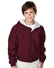 Tri-Mountain 3500 Boys Bay Watch Nylon Hooded Jacket With Jersey Lining at GotApparel