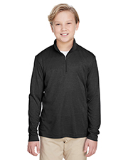 Team 365 TT31H Youth 3.8 oz Zone Sonic Heather Performance Quarter-Zip at GotApparel