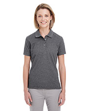 Ultraclub UC100W Women Heathered Pique Polo at GotApparel