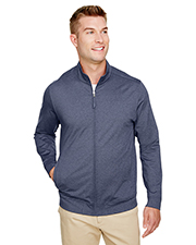 UltraClub UC400 Men 6.6 oz Navigator Heather Performance Full-Zip at GotApparel