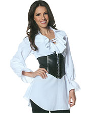 Halloween Costumes UR28308XL Women Morris  Pirate Laced Front Blouse Xl at GotApparel