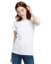 US Blanks US100 Ladies 4.3 oz Made in USA Short Sleeve Crew T-Shirt at GotApparel