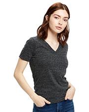 US Blanks US228 Women 4.9 oz Short-Sleeve Triblend V-Neck at GotApparel