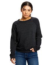 US Blanks US238 Women Raglan Pullover Long Sleeve Crewneck Sweatshirt at GotApparel