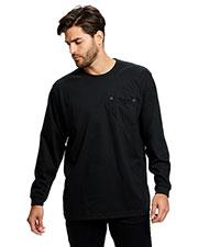 US Blanks US5544 Men Flame Resistant Long Sleeve Pocket T-Shirt at GotApparel