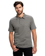 US Blanks US5580 Men Jersey Interlock Polo T-Shirt at GotApparel