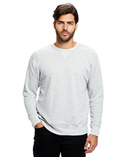 US Blanks US8000 Men Long-Sleeve Pullover Crew at GotApparel