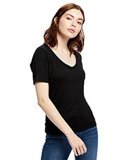 US Blanks US902 Women 2.5 oz Short-Sleeve Deep Scoop Neck Blouse at GotApparel