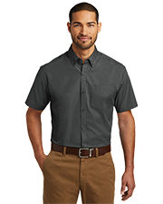 Port Authority W101 Men Sleeve Carefree Poplin Shirt     at GotApparel