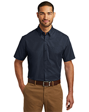 Port Authority W101 Men Sleeve Carefree Poplin Shirt     at GotApparel