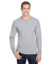 Hanes W120 Adult 5 oz Workwear Long-Sleeve Pocket T-Shirt at GotApparel