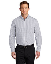 Port Authority W644 Men Broadcloth Gingham Easy Care Shirt at GotApparel