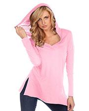 Women 2XL Sheer Jersey Insert Hem Long Sleeve Hoodie Placket Slcn Wsh at GotApparel