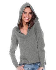 Women 2XL Sheer Jersey V-Neck High-Low Long Sleeve Hoodie at GotApparel