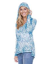 Women Static Jersey Print Raglan Long Sleeve High Low Hoodie at GotApparel