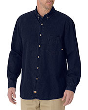Dickies WL300 Adult 8 oz. Denim Long-Sleeve Shirt at GotApparel