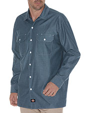 Dickies WL509T Men Tall Relaxed Fit Long-Sleeve Chambray Shirt at GotApparel