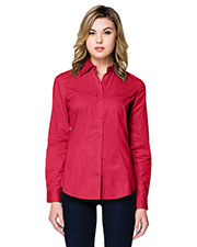 Tri-Mountain WL700LS Women Regal Long-Sleeve Woven Shirt at GotApparel