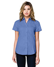 Tri-Mountain WL700SS Women Regal Short-Sleeve Woven Shirt at GotApparel