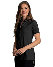 Greg Norman WNS0W342 Women 's  X-Lite 50 Solid Woven Polo at GotApparel