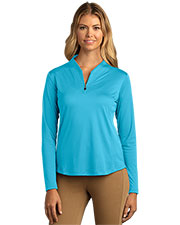 Greg Norman WNS8K464 Women 's  Play Dry Tulip Neck  1/4-Zip at GotApparel