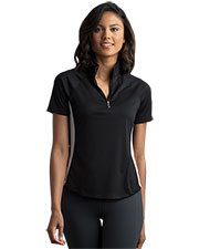 Greg Norman WNS8K465 Women 's  Play Dry Ml75 Racer Mock Neck Polo at GotApparel