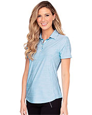 Greg Norman WNS9K478 Women 's  Play Dry Heather Solid Polo at GotApparel