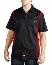 Dickies WS508 Men Two-Tone Short-Sleeve Work Shirt at GotApparel