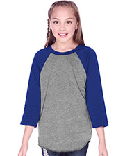 Youth Jersey Contrast Raglan 3/4 Sleeve at GotApparel
