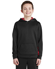 Sport-Tek® YST235 Boys Fleece Colorblock Hooded Pullover at GotApparel