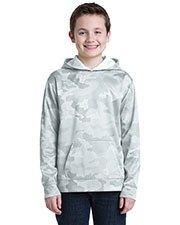 Sport-Tek® YST240 Boys Camohex Fleece Hooded Pullover at GotApparel