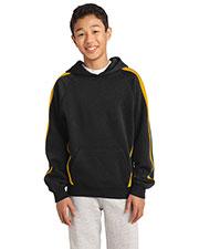 Sport-Tek® YST265 Boys Sleeve Stripe Pullover Hooded Sweatshirt at GotApparel