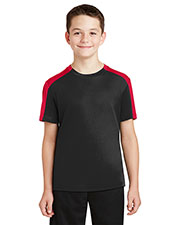 Sport-Tek® YST354 Boys PosiCharge® Competitor Sleeve Blocked Tee at GotApparel
