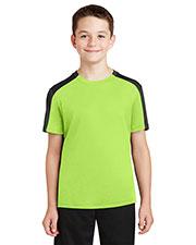 Sport-Tek® YST354 Boys PosiCharge® Competitor Sleeve Blocked Tee at GotApparel