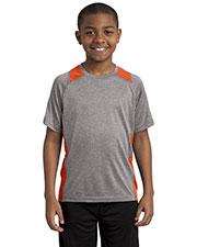 Sport-Tek® YST361 Boys Heather Colorblock Contender  Tee at GotApparel