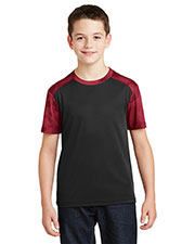Sport-Tek® YST371 Boys Camohex Colorblock Tee at GotApparel