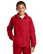 Sport-Tek® YST73 Girls Hooded Raglan Jacket at GotApparel