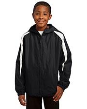 Sport-Tek® YST81 Boys Fleece-Lined Colorblock Jacket at GotApparel