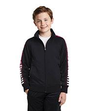Sport-Tek® YST93 Boys Dot Sublimation Tricot Track Jacket at GotApparel