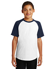 Sport-Tek® YT201 Boys Short-Sleeve Colorblock Raglan Jersey at GotApparel