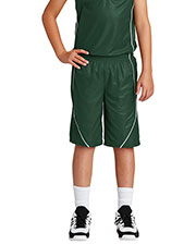Sport-Tek® YT565 Boys PosiCharge®  Mesh Reversible Spliced Short at GotApparel